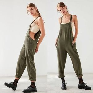 BDG Shapeless Cropped Olive Jumpsuit